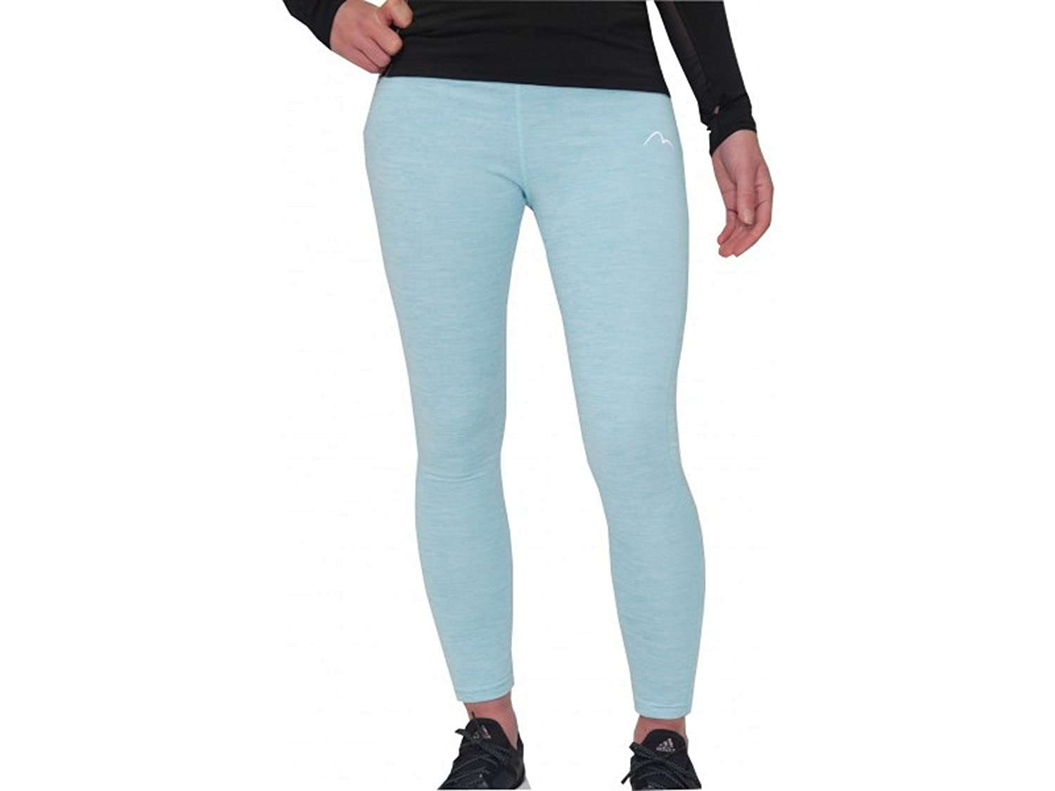 More Mile Heather Girls Junior Running Long Tights