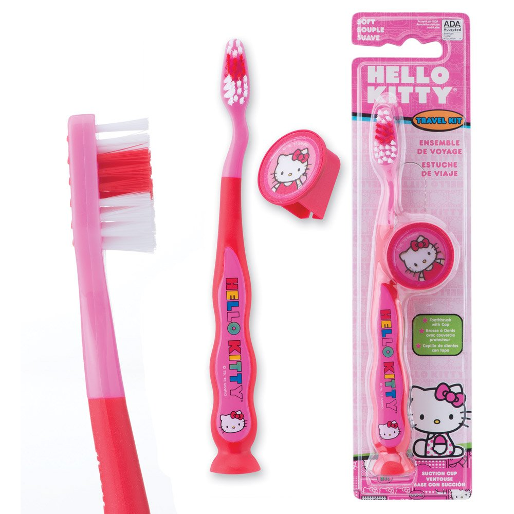 Hello Kitty Youth Suction Cup Travel - Dental Hygiene Products and Supplies - 48 per Pack by SmileMakers