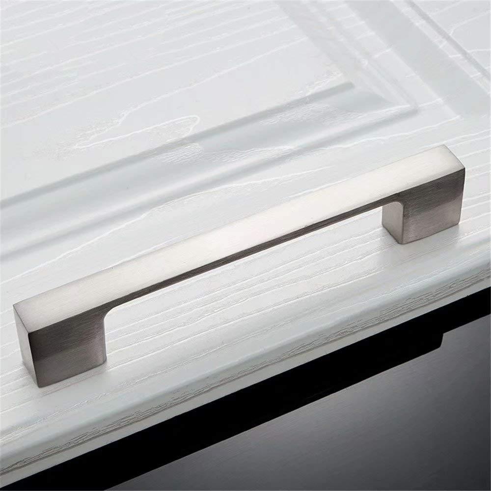 Solide Material Aluminiumlegierung M/öbel Griffen Nickel Geb/ürstet Creatwls 2 St/ück Europ/äischer Steggriff M/öbelgriff Schubladengriffe Schrank Griff