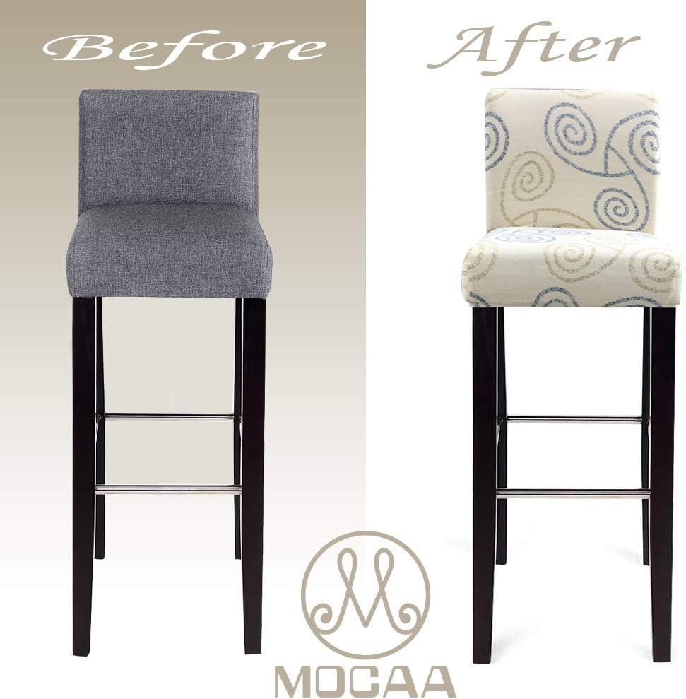 Style C Barstool Slipcovers 2 Pack MOCAA Dining Chair Covers,Bar Stool Chair Covers