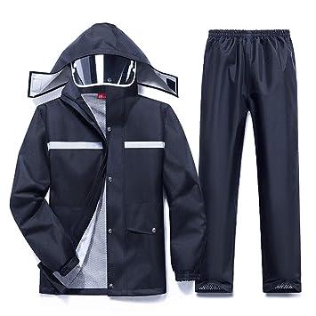 Chaqueta impermeable Abrigo Pantalones Traje Ropa impermeable Impermeable Multifuncional Impermeable Reutilizable Capucha de secado rápido para
