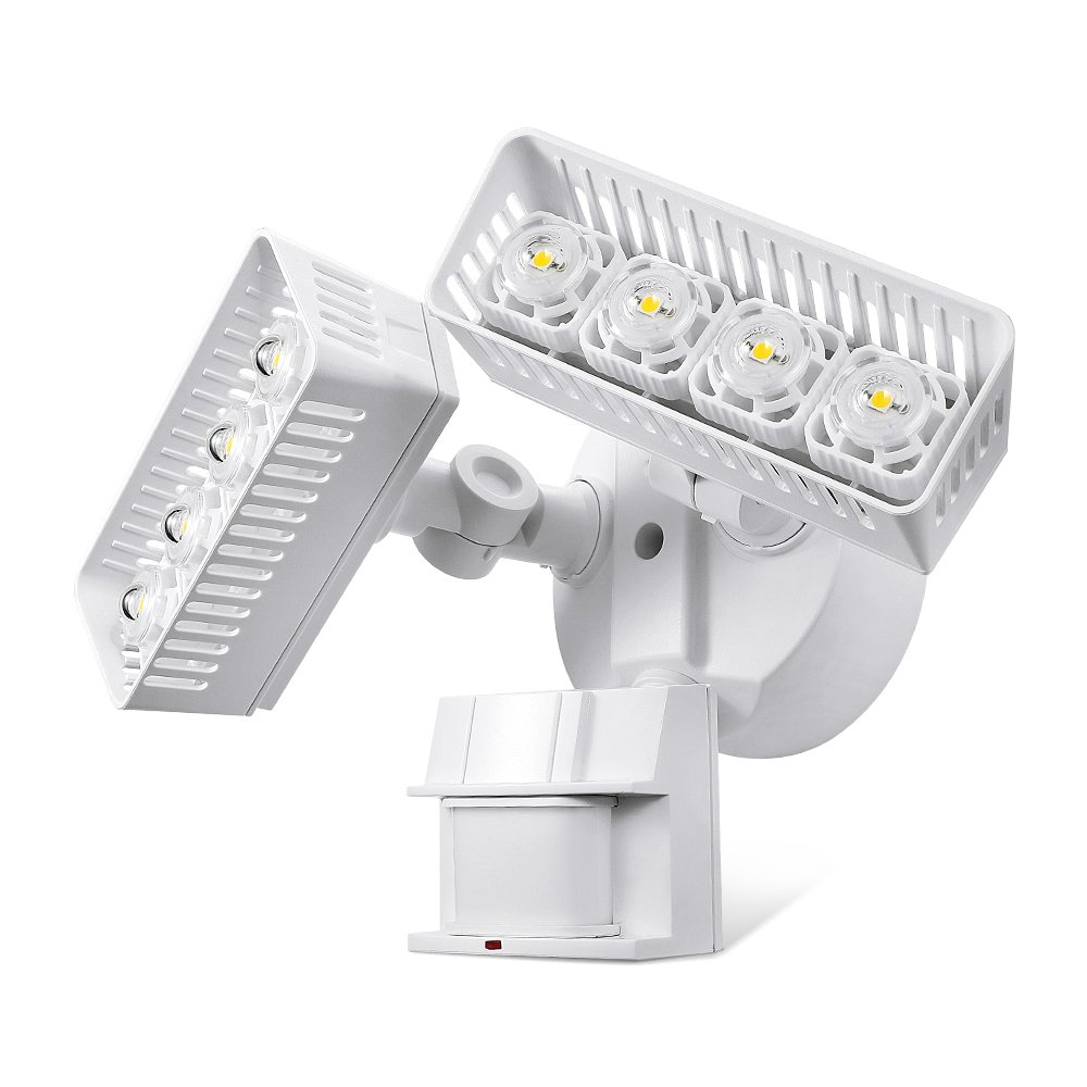 SANSI LED Security Motion Sensor Outdoor Lights, 30W (250W Incandescent Equivalent) 3400lm, 5000K Daylight, Waterproof, ETL Listed Floodlights, White
