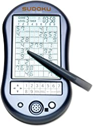 Bits and Pieces - Deluxe Sudoku Handheld Game - Electronic Pocket Size Sudoku Game, LED Screen, Great Gift - Measures 2-3/4