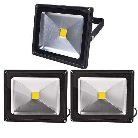 Leetop 3pcs Focos LED Exterior 30W,Proyector Reflector de Pared ...