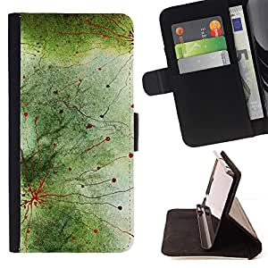 - Abstract Biology Nature Green Cell - Estilo PU billetera de cuero del soporte del tir???¡¯???3n [solapa de cierre] Cubierta- For Samsung Galaxy Note 3 III ( Devil Case )