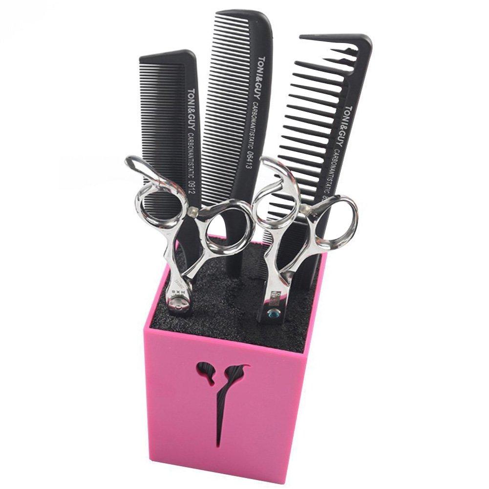 Creation Core Acylic Salon Scissors Combs Clips Storage Holder Box Hairdressing Organizer Rack for Hair Stylist(Green)