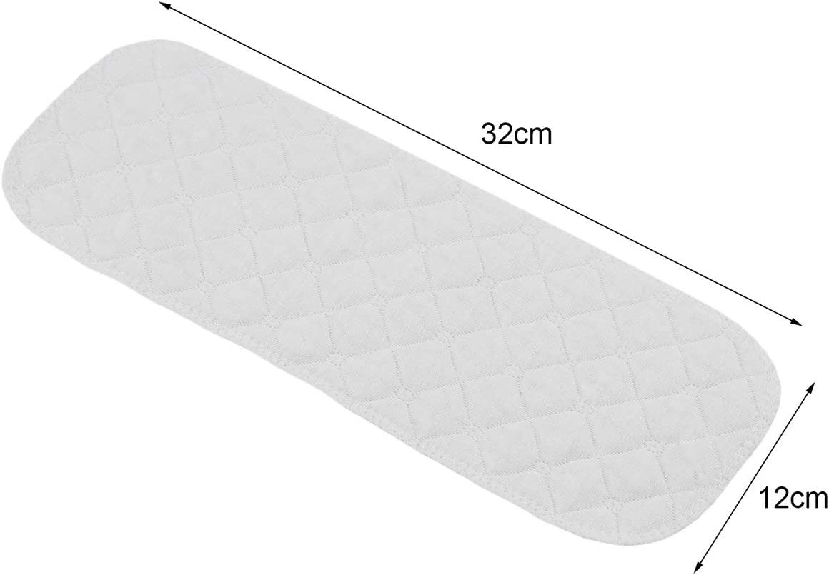 Algod/ón 10pcs set Suave y transpirable Reutilizable Algod/ón puro Beb/é Pa/ñal Pa/ñal Liners Insert 3 Layer-White