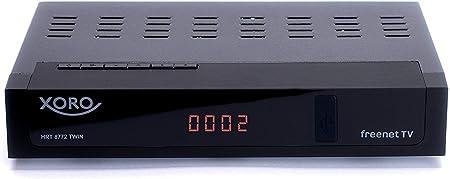 Xoro Hrt 8772 Dvb T2 Receiver Hevc H 265 Twin Tuner Cardless Irdeto Access System For Freenet Tv S Pdif Opt Miniscart 12v Black Home Cinema Tv Video