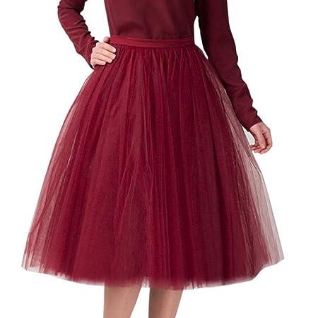 KpopBaby - Falda de Gasa Plisada para Adulto o tutú: Amazon.es: Hogar