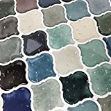 STICKGOO Premium Anti Mold Peel and Stick Tile Backsplash, Arabesque Self Adhesive Wall Tiles, Stick on Backsplash for Kitchen & Bathroom, Pack of 6