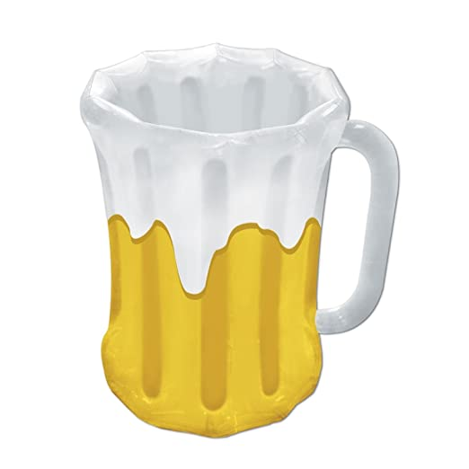 Pack de 6 hinchable Frosty cerveza taza Party bebida Coolers 27 ...