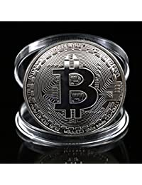 Win 1 Piece Silver Plated Bitcoin Coin Collectible BTC Coin Art Collection Gift Physical offer