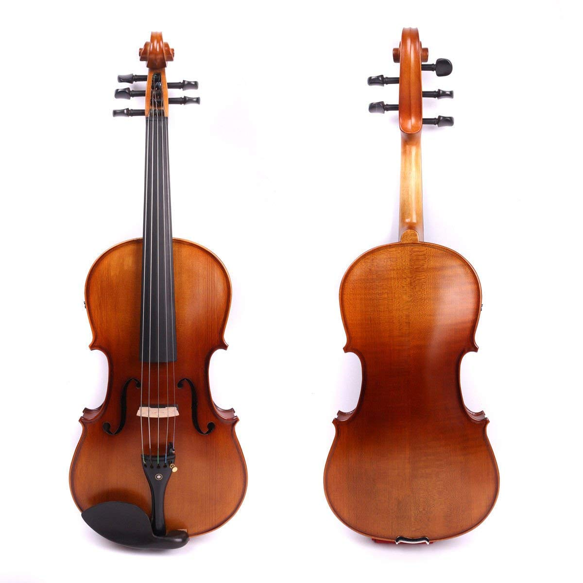 Yinfente 4/4 violin 5 string Electric violin Full size Maple Spruce wood Big jack Ebony wood Violin parts Sweet Sound by yinfente (Image #2)