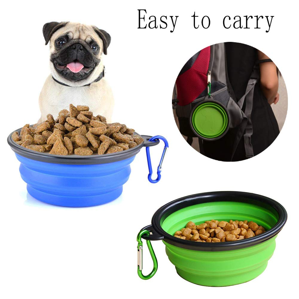 liansheng Folding Dog Bowl Pet Mat Silicone Mat Non-Slip Out of Pocket Waterproof Pet Food Mats Tray by liansheng (Image #6)