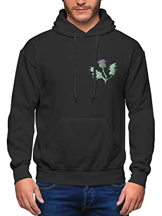 98f03382 Scotland Rugby Hoodie for Men - Scottish Thistle - Shirts Nations Football  Hoodie: Amazon.co.uk: Clothing