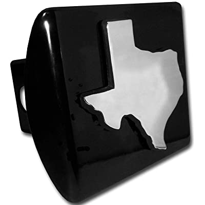 AMG State of Texas Metal Chrome Emblem on Black Metal Hitch Cover: Automotive [5Bkhe0803681]