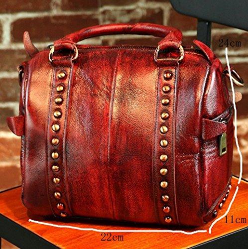 à retro Sac sac cuir en 3 à oblique main bandoulière main dames à sac qqISxw6aPn