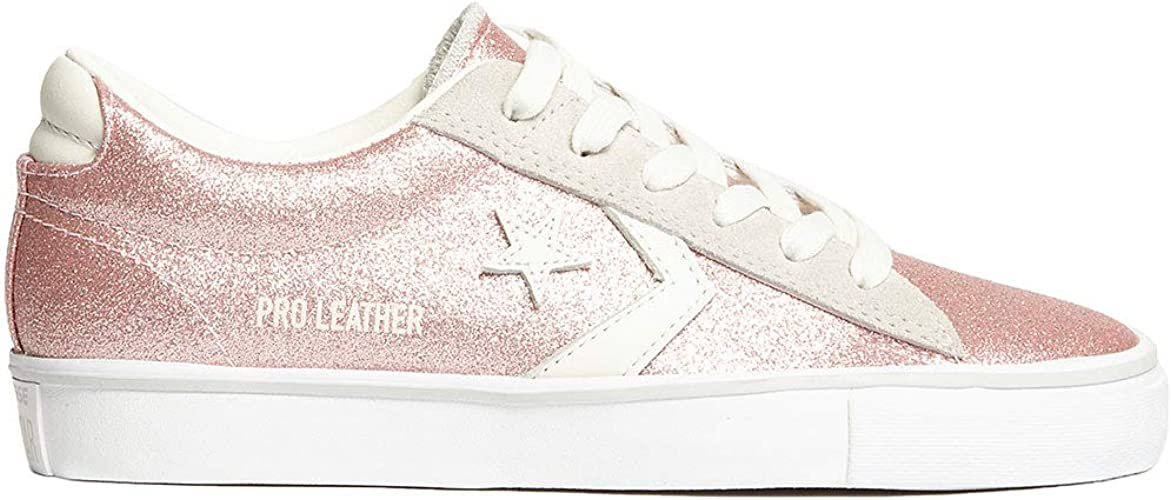 Converse 560968C Rose Chaussures Sneakers Femme Lacets Cuir Paillettes