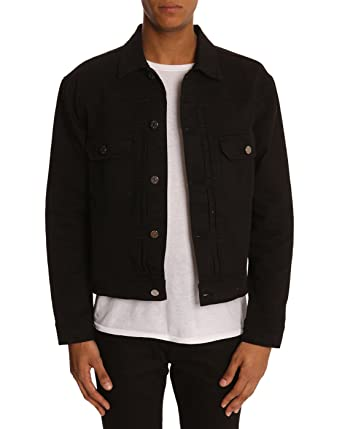 3e84b4102b21 ACNE STUDIOS - Jackets - Men - Council black denim jacket - 46   Amazon.co.uk  Clothing