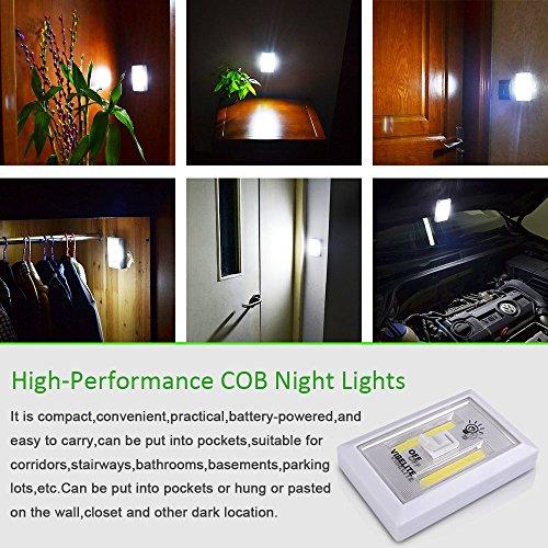 Vibelite Battery Operated Led Night Lights Cob Led
