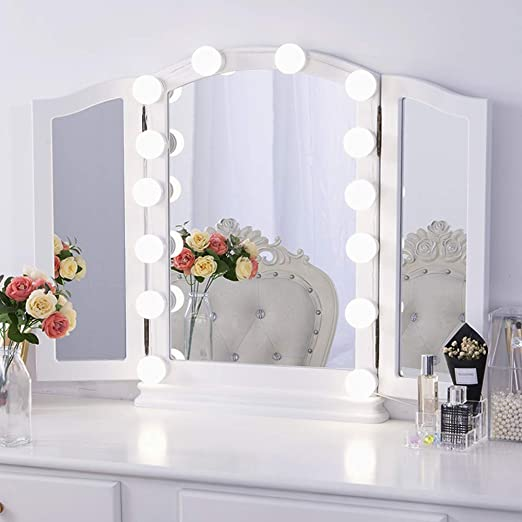 Chende LED Vanity Mirror Lights Kit with Dimmable Light Bulbs ...
