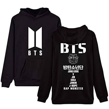 a732f7b4 Amazon.com : Dolpind Kpop BTS Hoodie Love Yourself Persona Sweatershirt SUGA  Jimin Jungkook V Merchandise : Sports & Outdoors