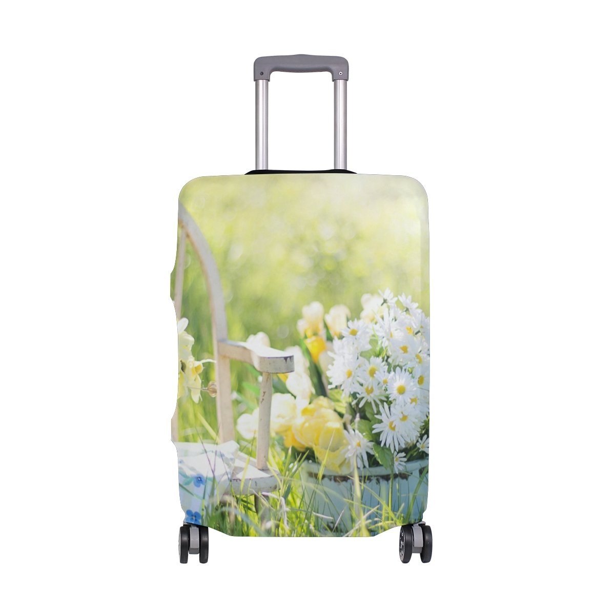 OREZI 3D Summer Still Life Luggage Protector Suitcase Cover 18-32 Inch