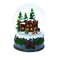 Kurt Adler 100mm Musical Village Waterglobe