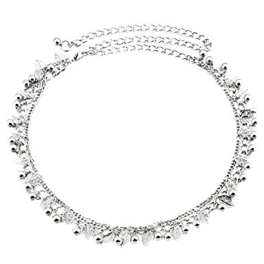 Ceinture Femme Fantaisie Métal, strass Cristal Diamante Brillant Chaîne  Tour de Taille Réglable Argenté  588833b7685