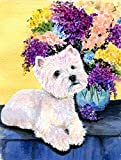 Caroline's Treasures SS8291CHF Westie Flag Canvas, Large, Multicolor Review