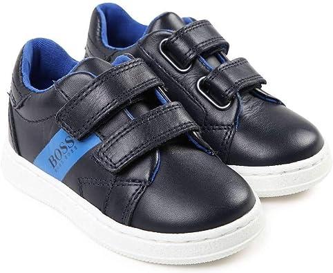 Hugo Boss Kids Dark Navy Blue Leather