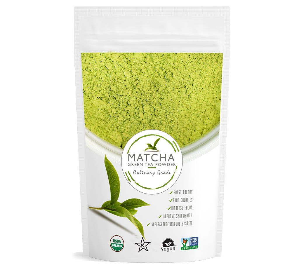 Culinary Matcha (16oz) High Grade - Pure Matcha Green Tea Powder, USDA Organic, Non-GMO Certified, Vegan and Gluten-Free, Incredible Flavor, Delicate Aroma, Natural Energy Booster