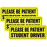Type 1 UTSAUTO Student Driver Stickers Car Safety Signs Car Vehicle Reflective Sign Sticker Caution Warning Bumper for New Driver Set of 3