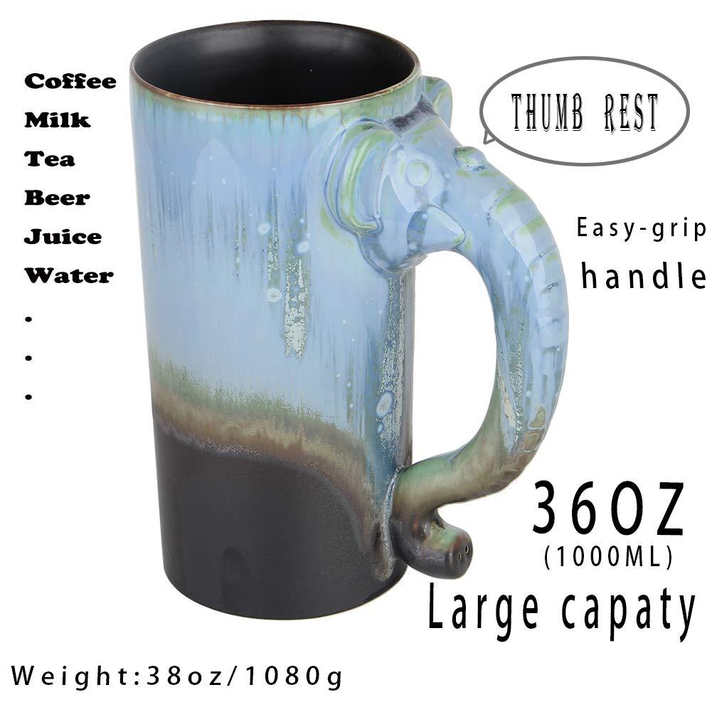 Amazoncom 36 Ounce Extra Large Handmade Pottery Coffee Mug And
