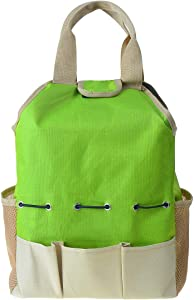 AnRuiGarden Tool Bag with Pockets Polyester Oxford Garden Tote Compact Garden Hand Tools Storage Organizer Holder Yard Plant Tool Carrierfor Indoor and Outdoor Gardening(Tools NOT Included)