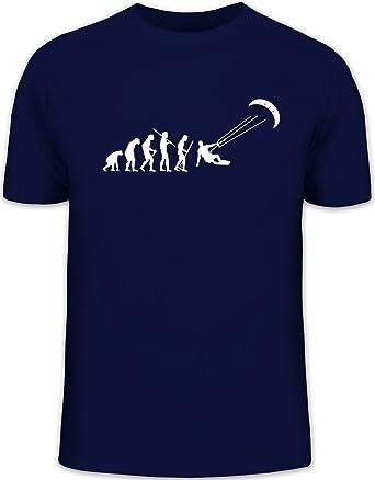 Shirtstreet24, EVOLUTION KITESURFEN, Kitesurfer kiten Herren T-Shirt Fun  Shirt Funshirt Shirts,