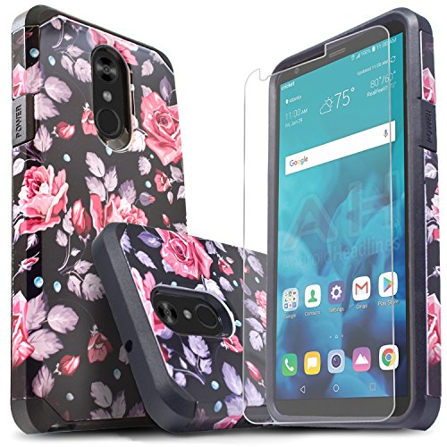LG Stylo 4 Phone Case, LG Stylo 4 Plus Cases With [Premium Screen Protector Included] Starshop Dual Layers Impact Advanced Protective Shock Absorption Cover For Stylo 4/Stylo 4 +-Colorful Flower