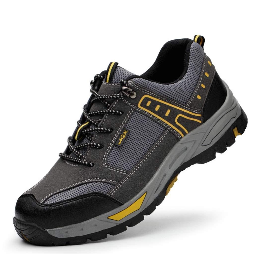 CG Damen Herren Sicherheitsschuhe Sportlich, Trekking Wanderhalbschuhe Stahlkappe Arbeitsschuhe Hiking Schuhe, Atmungsaktiv Arbeitsschuhe (Größe   42)