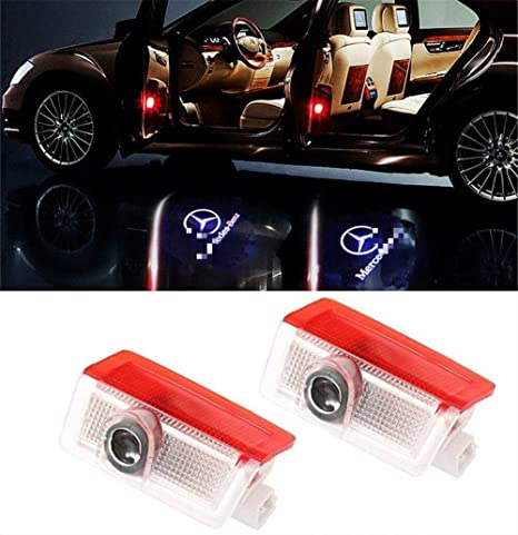 New Fashion 2pcs Car Door Light Vehicle Ghost Led Courtesy Welcome Logo Warning Light Lamp Shadow Laser Projector For Benz E-class Outstanding Features Car Lights