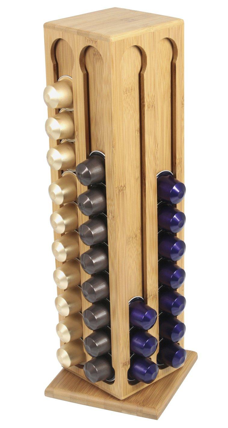 Ambiance Nature 508823 Distributeur /à Capsules Bambou Tournant 80 Capsules