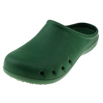 c24f2617 P Prettyia Zueco Sanitario de Enfermera Zapatos Planos Antideslizantes de Trabajo  Pantuflas de Estar por Casa para Mujer Hombre: Amazon.es: Deportes y aire  ...