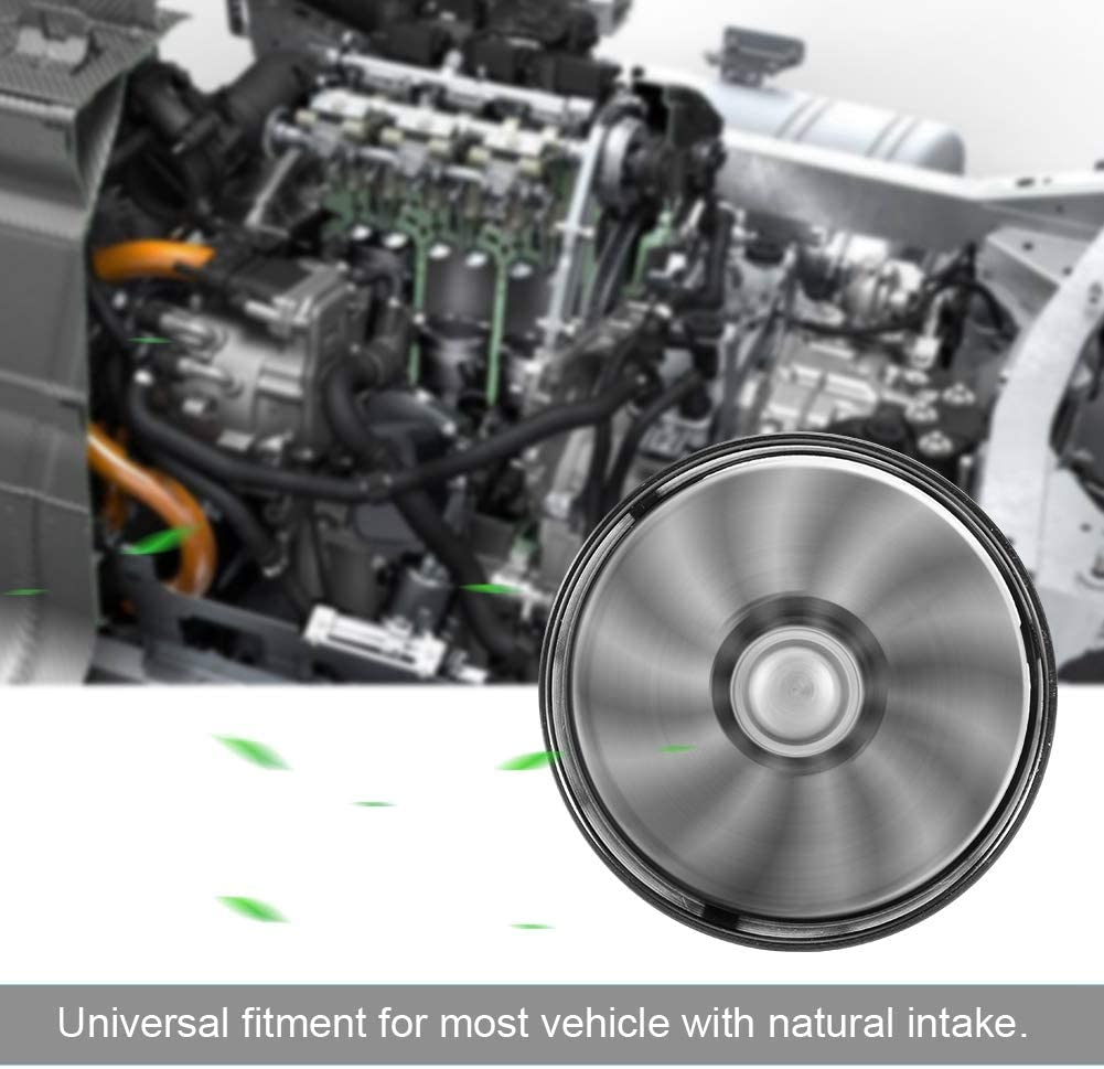 Qiilu Auto Turbocompresseurs Prise dair de Voiture Turbonator Ventilateur Simple Turbine Super Chargeur /Économiseur dessence Turbo 64mm Noir