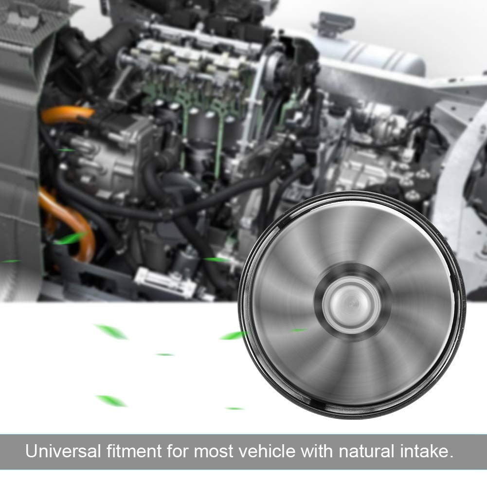 KIMISS Car Air Intake Turbonator Single Fan Turbine Super Charger Gas Fuel Saver Turbo 64mm Black