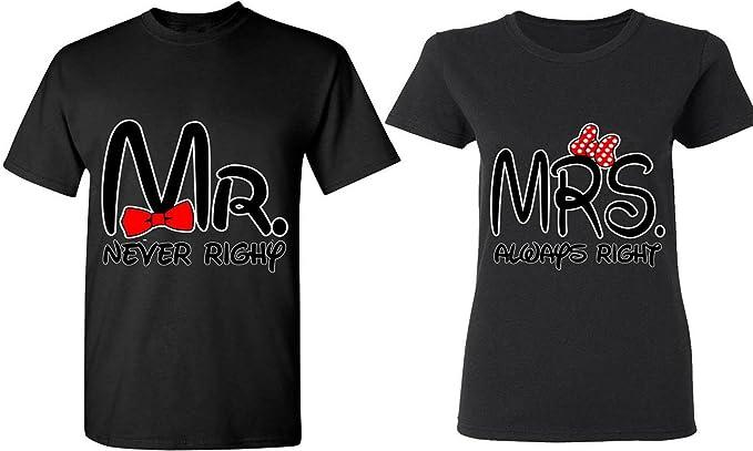 023add84 Amazon.com: Mr. & Mrs. Always Right - Matching Couple Shirts - His ...