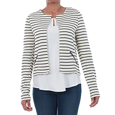 e8808cc97e Vero Moda Jacket Women XS White Striped 10195939 VMULA LS Blazer A ...