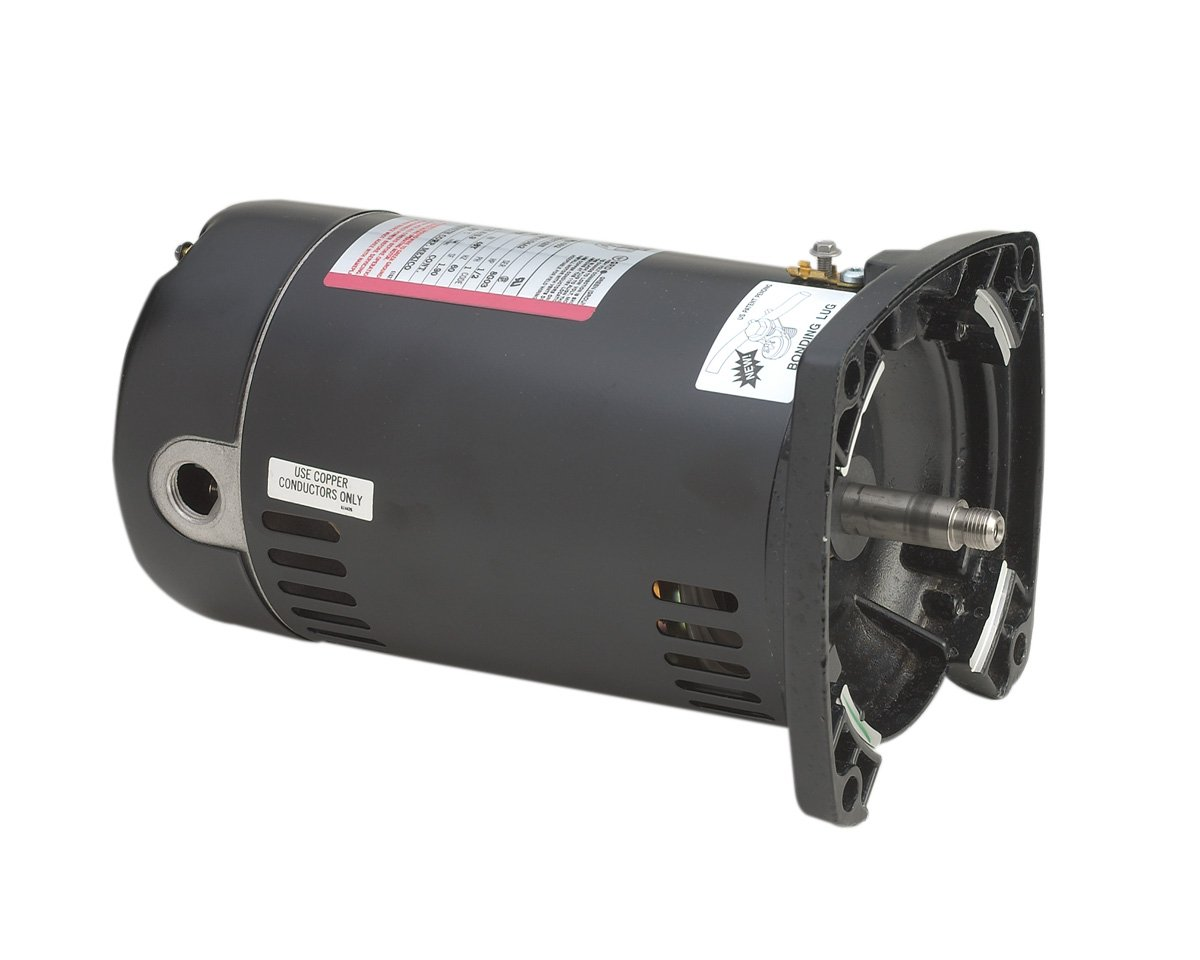 Image of A.O. Smith SQ1032 1/3 HP, 3450 RPM, 48Y Frame, Capacitor Start, ODP Enclosure, Square Flange Pool Motor