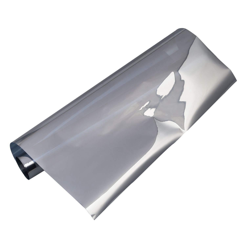 Couleur Argent XZANTE Film De Fen/êTre Miroir Autocollant De Confidentialit/é Teinte De Sens Unique R/éFlecteur Solaire 40 100cm