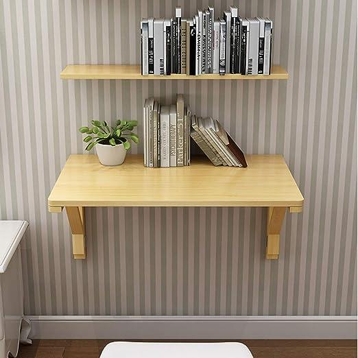 Escritorio de pared plegable invisible, mesa de comedor de madera ...