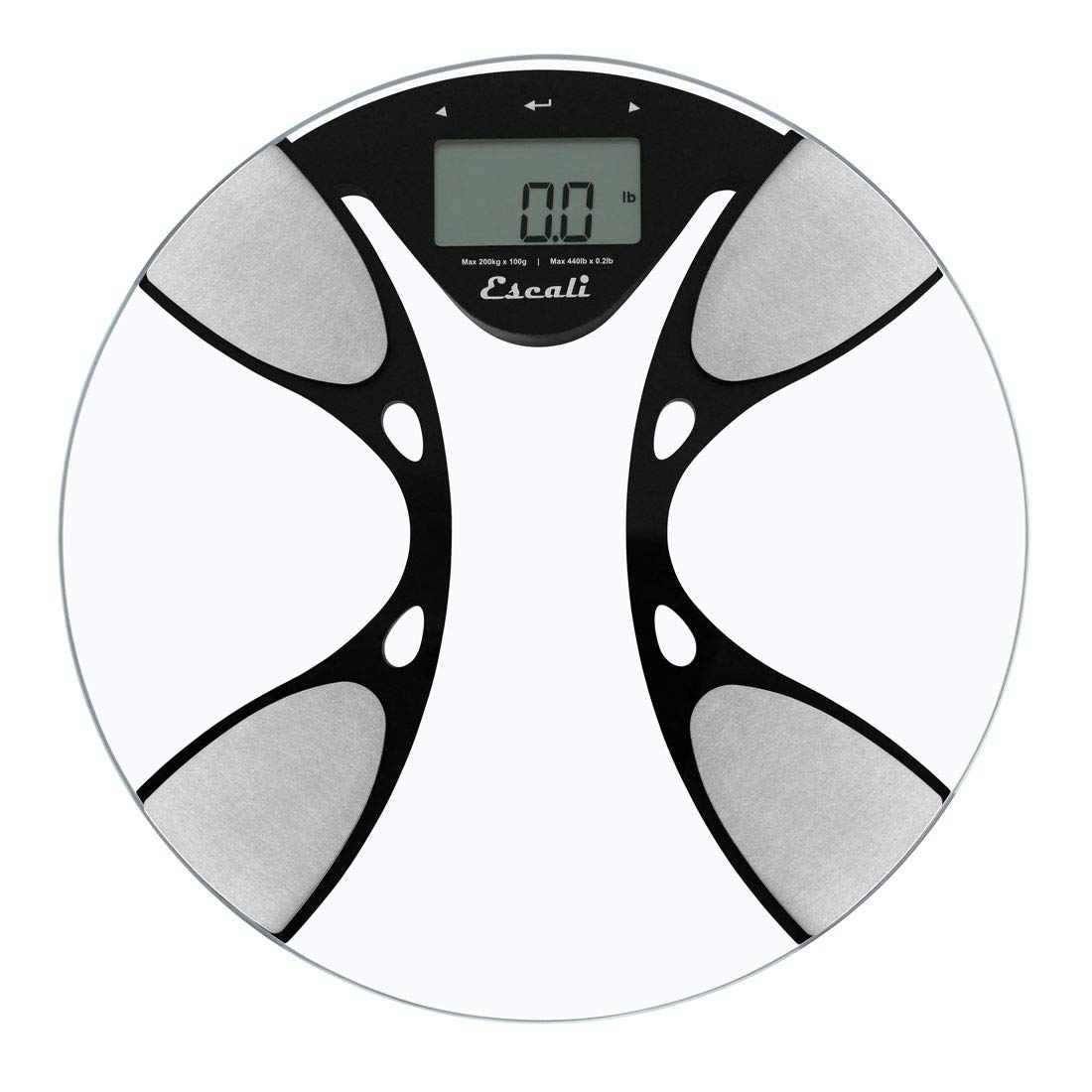 Escali BFBW200 Glass Body Fat/ Body Water Digital Bathroom Scale, 440lb/200 Kg: Amazon.es: Salud y cuidado personal