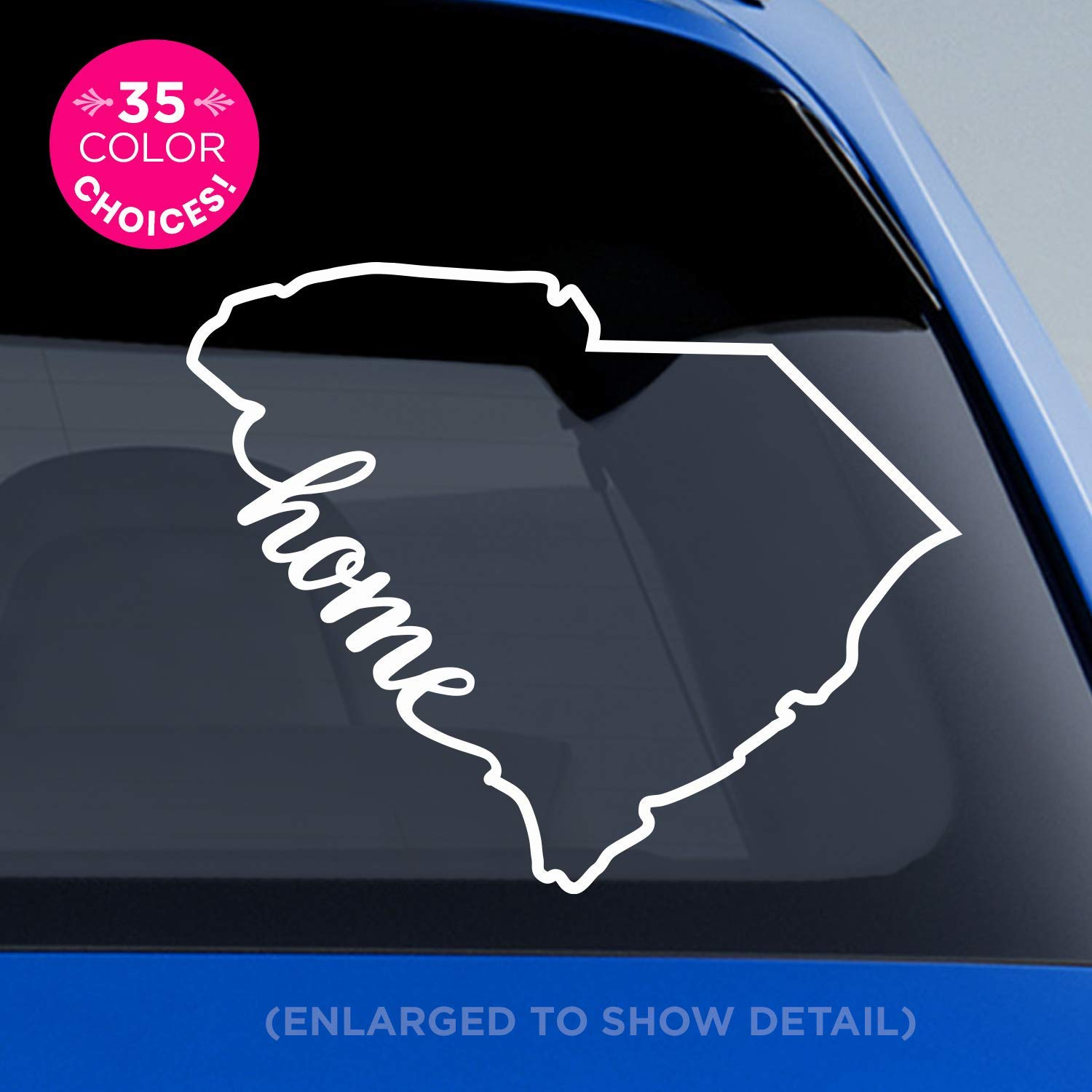 South carolina state home decal sc home car vinyl sticker add a heart over charleston columbia mount pleasant rock hill greenville summerville
